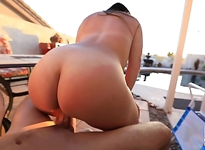 PAWG Blonde Fucks Her Step Son and Gets Invasive Creampie