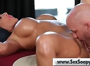 Bosomy milf receives her vagina licked - Derrick Drill-hole and Richelle Ryan
