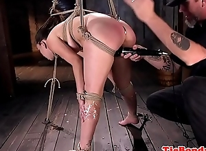 Dutiful beauty spanked and vibrator fucked