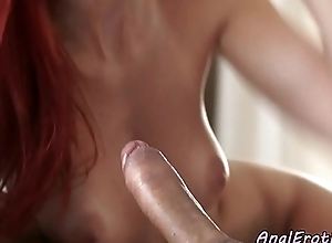 Redhead infant anally spooned by her lover