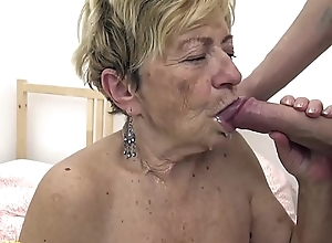 sexy 90 years old granny receives rough screwed
