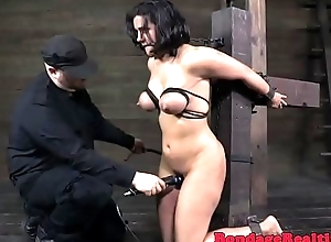 Bigtitted milf orgasms to the fullest extent a finally flogged