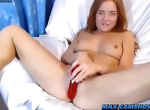 Titillating Euro Redhead Camgirl Bait