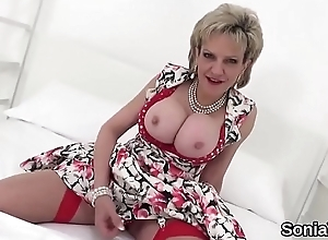 Adulterous english mature nipper sonia reveals the brush oversized boobies